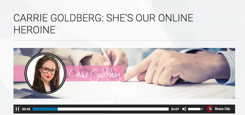 On the Dot Woman: CARRIE GOLDBERG: SHE'S OUR ONLINE HEROINE